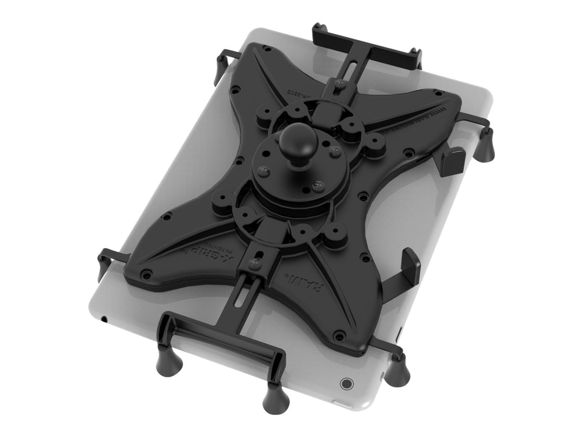 Ram Mounts Universal X-Grip Cradle with Round Base Adapter for 10 Tablets