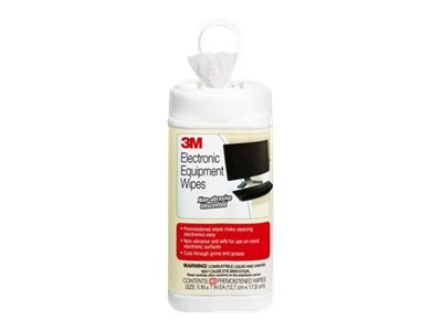 3M Pre-Moistened, Anti-Static Wipes, 80 count CL610