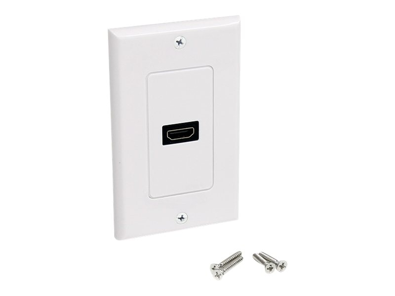 StarTech.com HDMI (F) Wall Plate, White, HDMIPLATE, 13319660, Premise Wiring Equipment