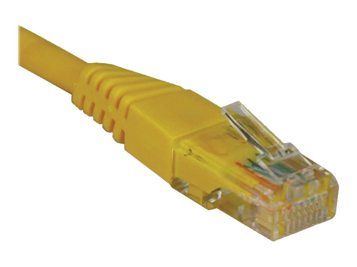 Tripp Lite Cat5e RJ-45 M M 350MHz Molded Patch Cable, Yellow, 1ft, N002-001-YW