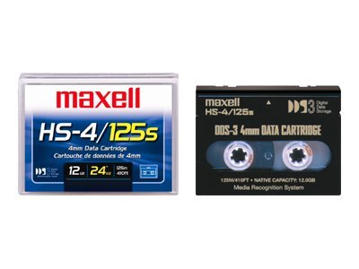 Maxell 12 24GB 4mm 125m DDS-3 DAT Tape Cartridge, 200025, 45321, Tape Drive Cartridges & Accessories