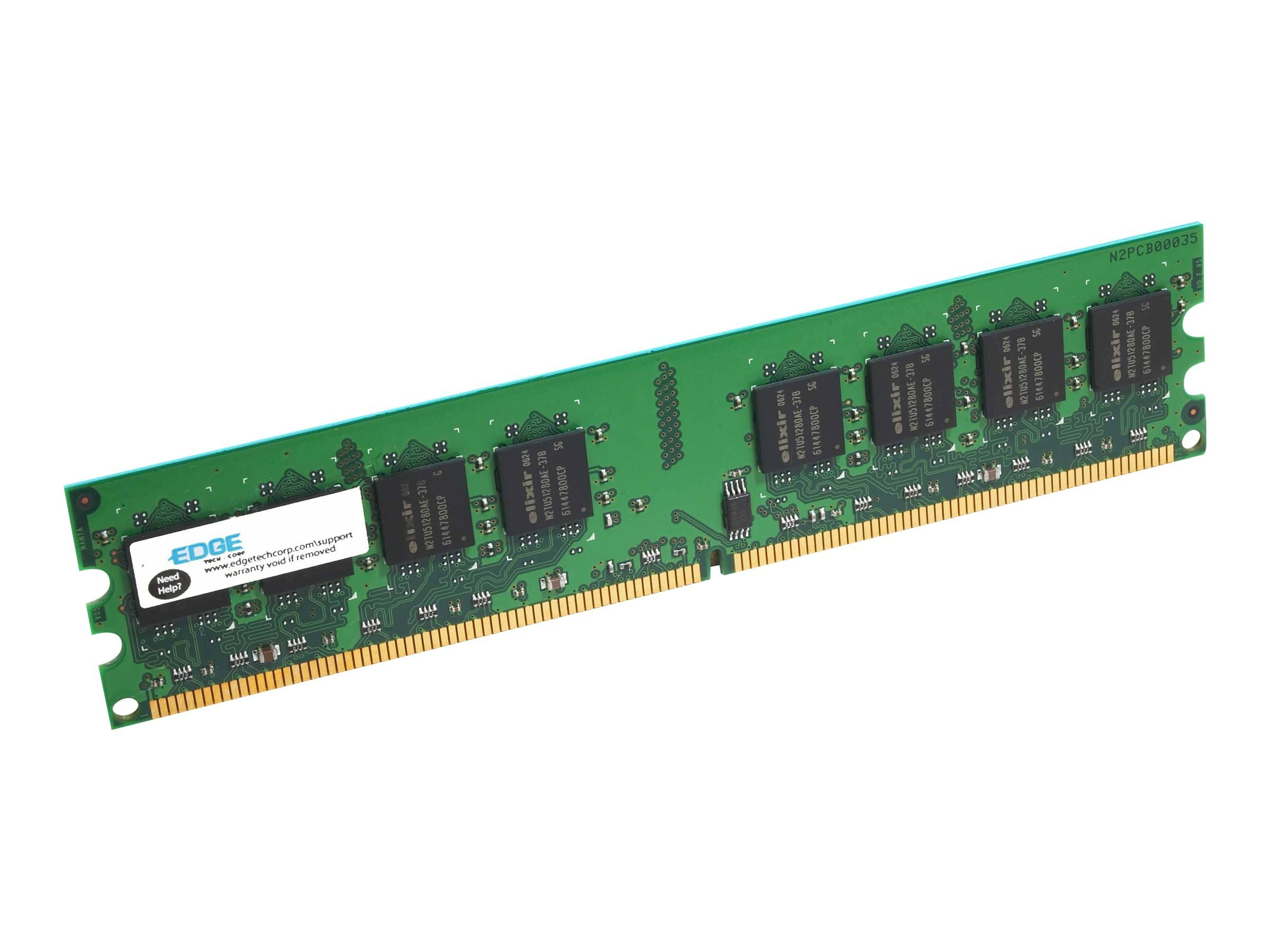 Edge 1GB PC2-4200 240-pin DDR2 SDRAM UDIMM, PE197711