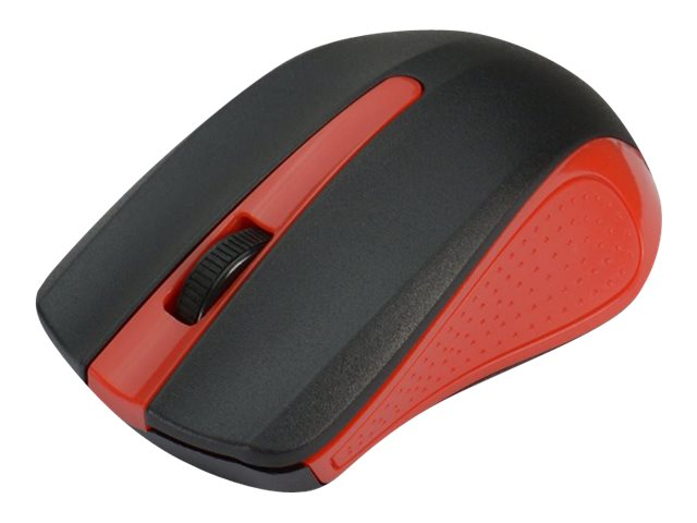Siig Wireless 2.4GHz Optical Mouse w  Nano Receiver, Red, JK-WR0G12-S1