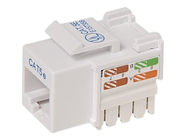 Belkin Cat5e Keystone Jack, 568A 568B, White, 10-Pack, R6D024-AB5EWT10, 7630970, Premise Wiring Equipment