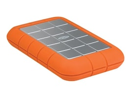 Lacie 1TB Rugged Triple USB 3.0 FireWire800 Portable Hard Drive, LAC301984, 29488919, Hard Drives - External
