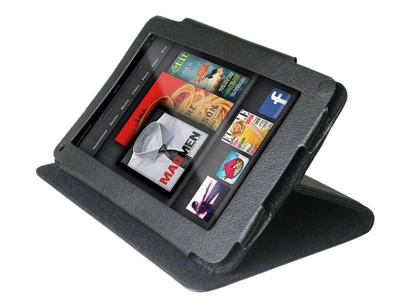 Premiertek Leather Flip Case for Kindle Fire