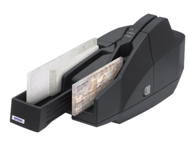 Epson TM-S1000 CaptureOne Check Scanner, 60dpm, (2) Pockets, Dark Gray, A41A266A8941, 17843127, Magnetic Stripe/MICR Readers