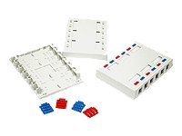 C2G Keystone Surface Mount Box, White, 12 Port, 03849, 10176325, Premise Wiring Equipment