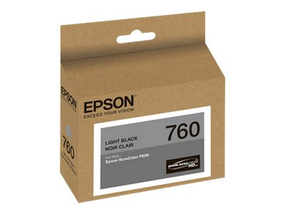 Epson Light Black Ultrachrome T760 Ink Cartridge, T760720, 19599181, Ink Cartridges & Ink Refill Kits