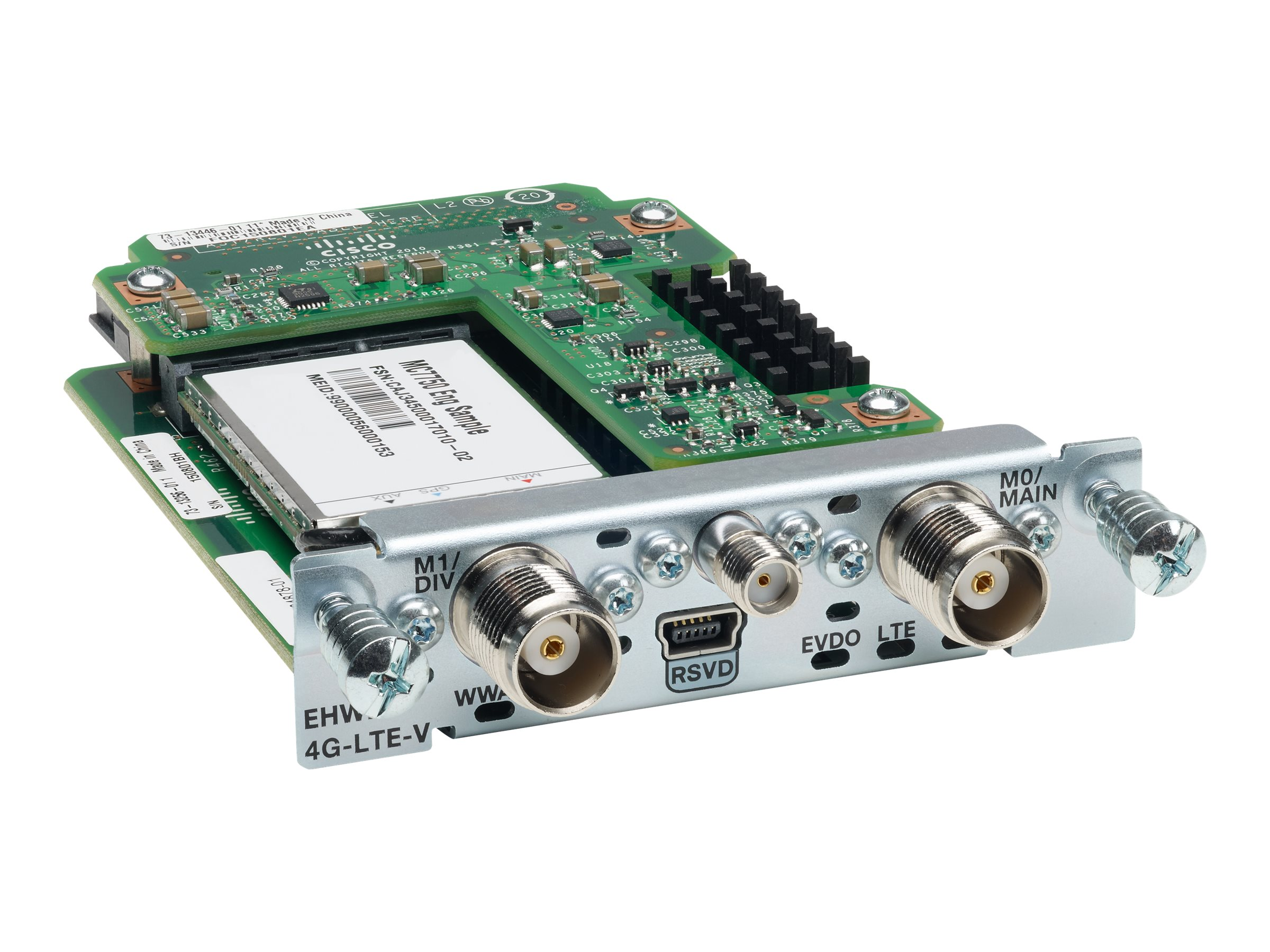 Cisco 4G LTE Enhanced High-speed WAN Interface Card 800 900 1800 2100MHZ (Australia), EHWIC-4G-LTE-AU