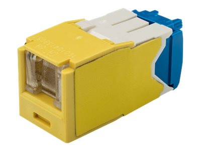 Panduit Cat6A RJ-45 8-position, 8-wire Spring Shuttered Universal Jack Module, Yellow, CJH6X88TGYL