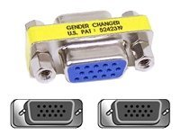 Belkin Video Gender Changer VGA Female Female, F4A113, 53487, Adapters & Port Converters
