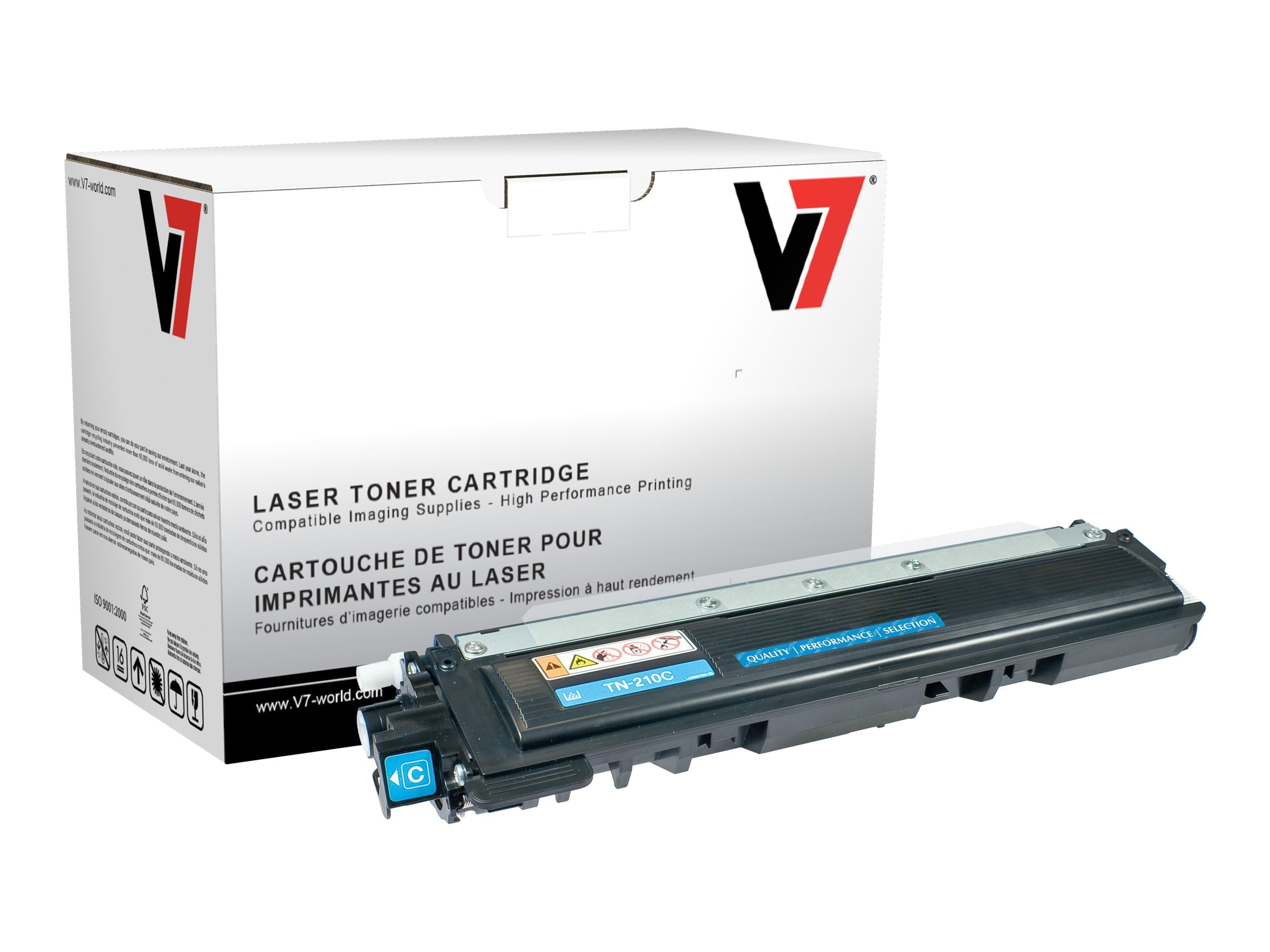 V7 TN210C Cyan High Yield Toner Cartridge for Brother HL-4040 (TAA Compliant)