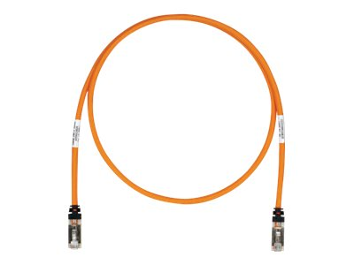 Panduit Cat6a SFTP Copper Patch Cable, Orange, 1ft