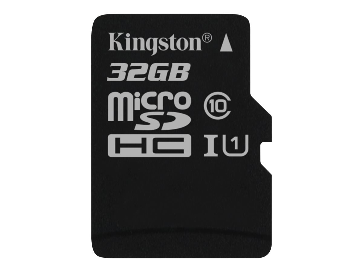 Kingston 32GB UHS-I MicroSDHC Flash Memory Card, Class 10