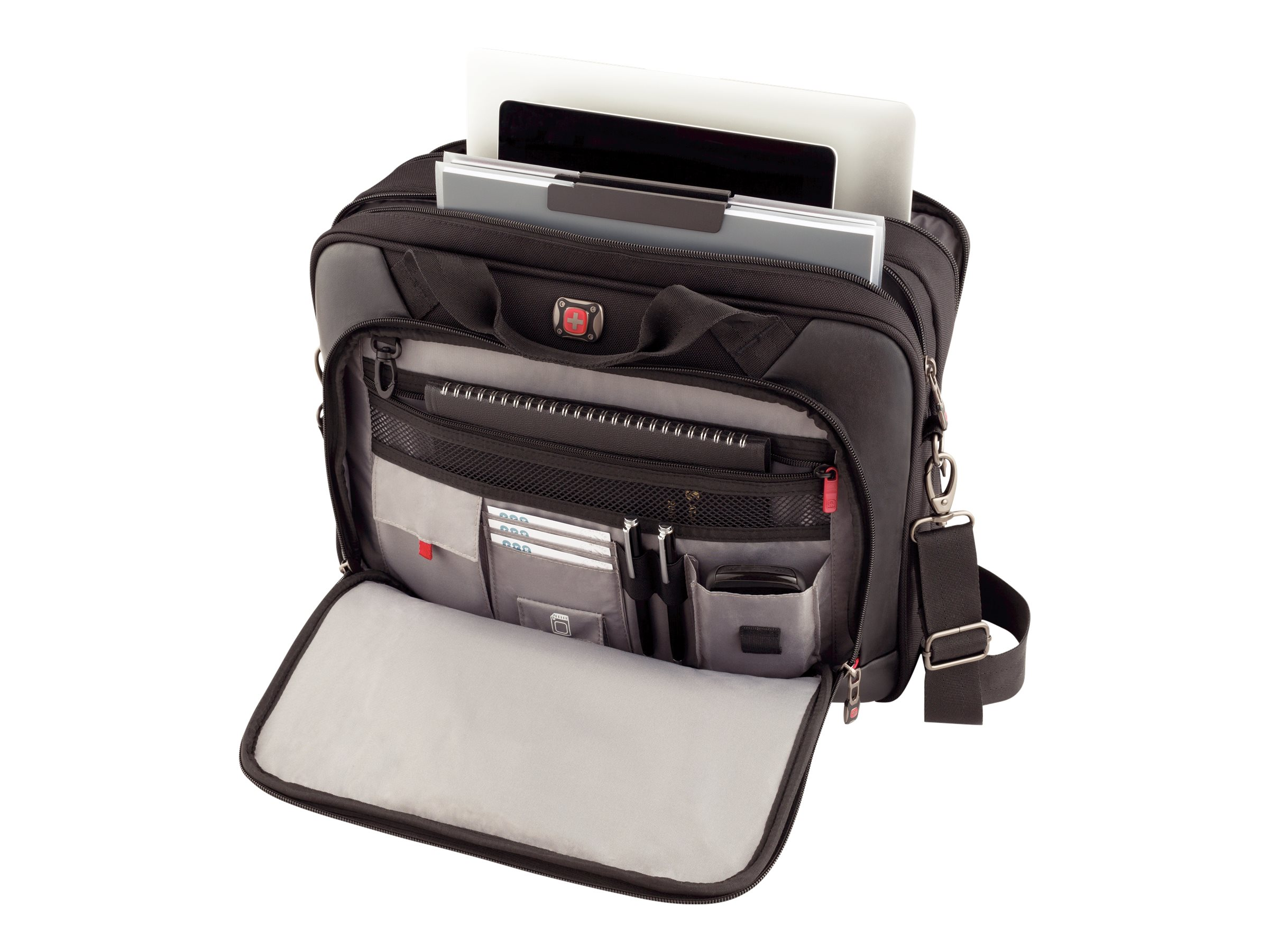 Wenger Highwire Briefcase, Fits Up to 17 Laptop, Black