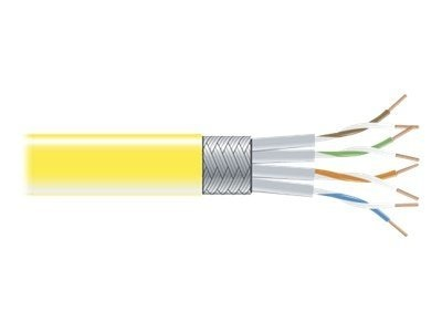 Black Box CAT6 250MHz Shielded Stranded Bulk Cable, Yellow, 1000ft