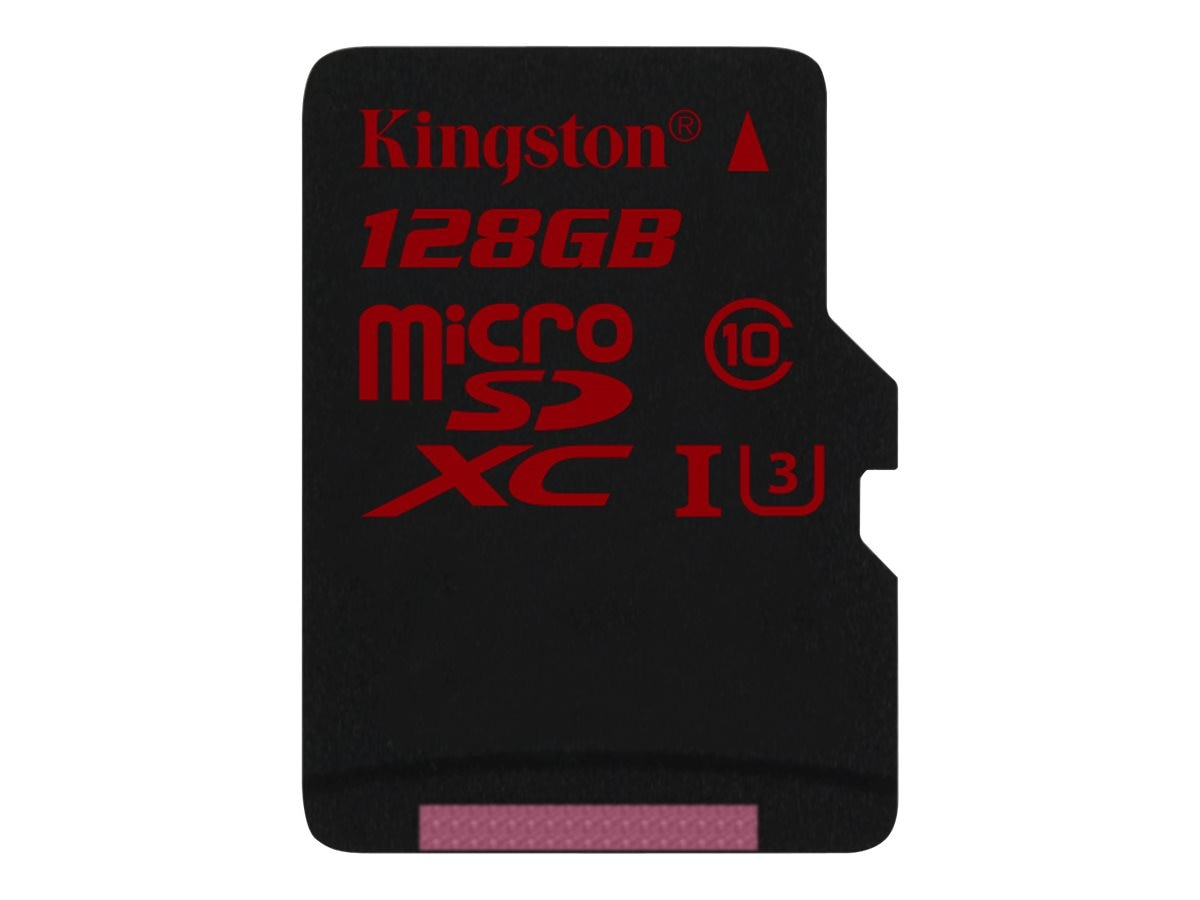 Kingston 128GB microSDHC UHS-I Flash Memory Card, Class 3 with SD Adapter