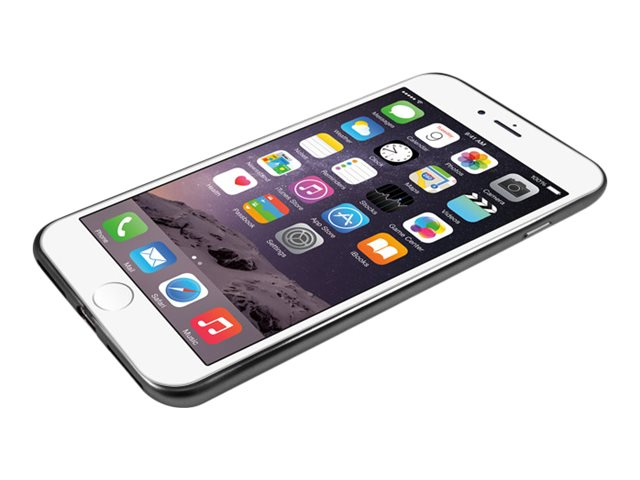 Macally Ultra Thin Soft Transparent Case w  Matte Black Trim for iPhone 7