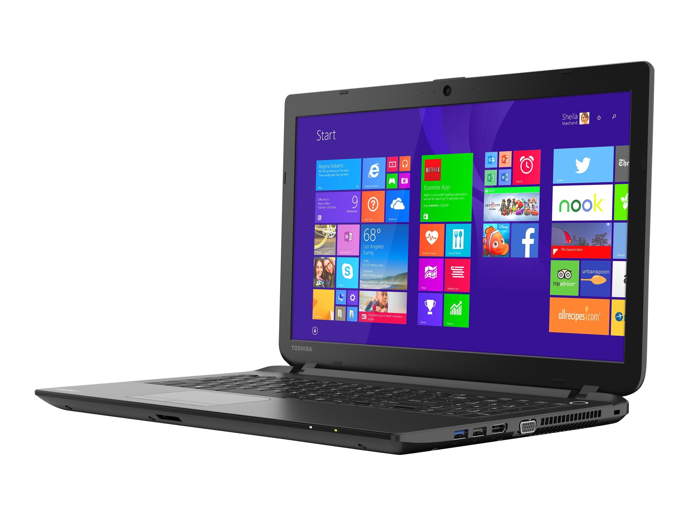 Toshiba Satellite C55D-B5244 : 2.0GHz A6 Series 15.6in display, PSCN4U-00R002, 17771119, Notebooks