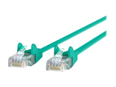 Belkin Cat6 UTP Patch Cable, Green, Snagless, 1ft