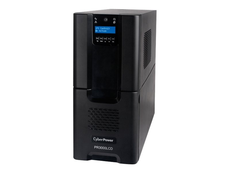 CyberPower Smart App 3000VA 2700W Pure Sine Wave UPS, PR3000LCD, 15155259, Battery Backup/UPS