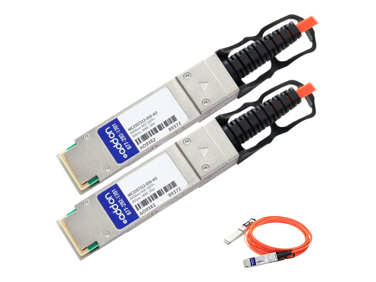 ACP-EP 40GBase-AOC QSFP+ to QSFP+ Direct Attach Cable, 50m