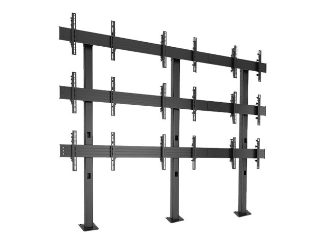Chief Manufacturing FUSION 3 x 3 Micro-Adjustable Large Bolt-Down Freestanding Video Wall, LBM3X3U, 15704289, Stands & Mounts - AV
