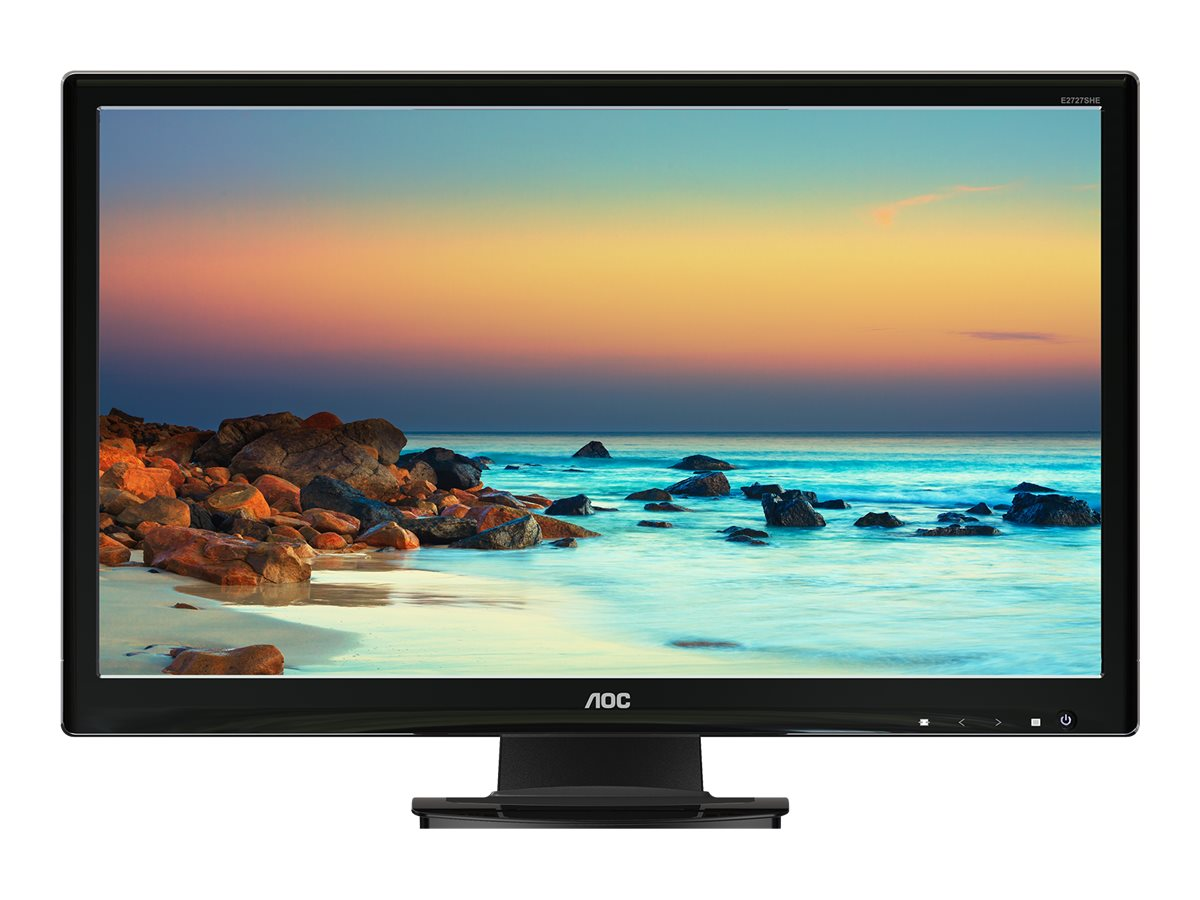 AOC 27 E2727SHE Full HD LED-LCD Monitor, Black, E2727SHE, 18371521, Monitors - LED-LCD