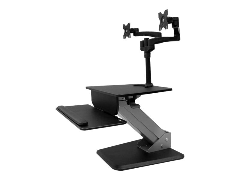 StarTech.com Dual Monitor Sit-to-stand Workstation, Black, BNDSTSDUAL, 31852126, Stands & Mounts - AV