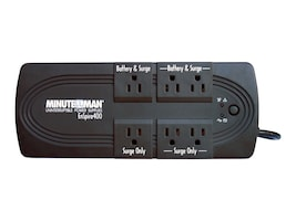 Minuteman EnSpire Standby UPS 400VA 200W, USB Port, (6) 5-15R Outlets, EN400, 7361765, Battery Backup/UPS