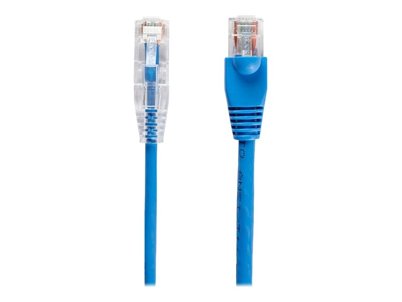 Black Box CAT6 250MHz 28AWG UTP Snagless Patch Cable, Blue, 1ft