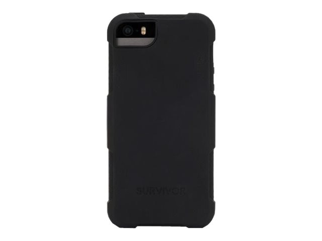 Griffin Survivor Skin for iPhone 5 5s, Black, GB39187, 23515701, Carrying Cases - Phones/PDAs