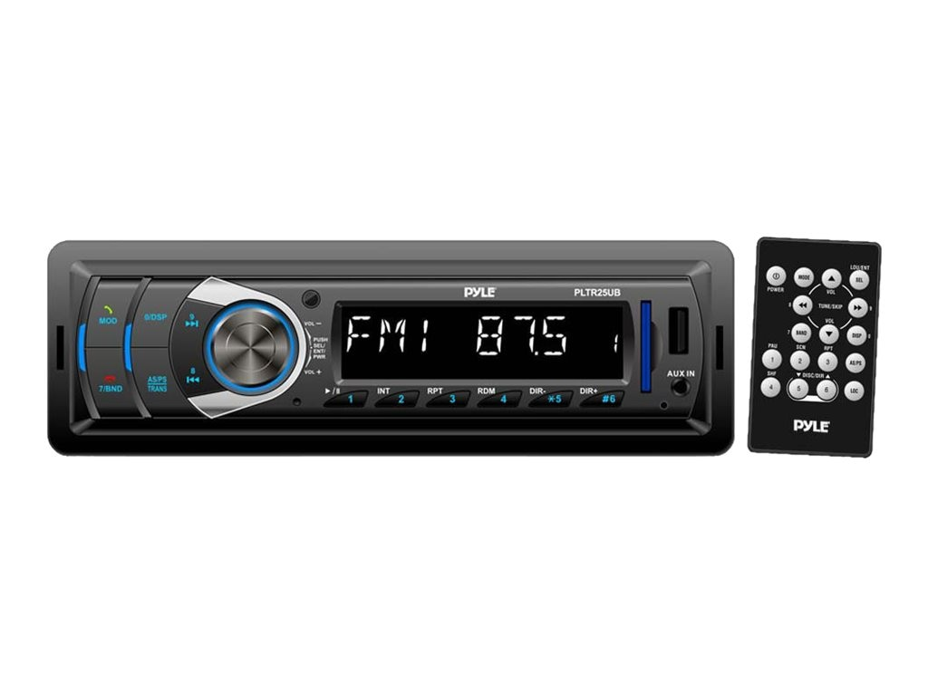 Pyle AM FM BT USB SD MP3 AUX In DC 12-24V Dual Voltage Digital Receiver, PLTR25UB