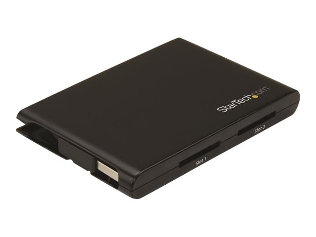 StarTech.com Dual-Slot SD Card USB 3.0 Reader Writer, 2SD4FCRU3