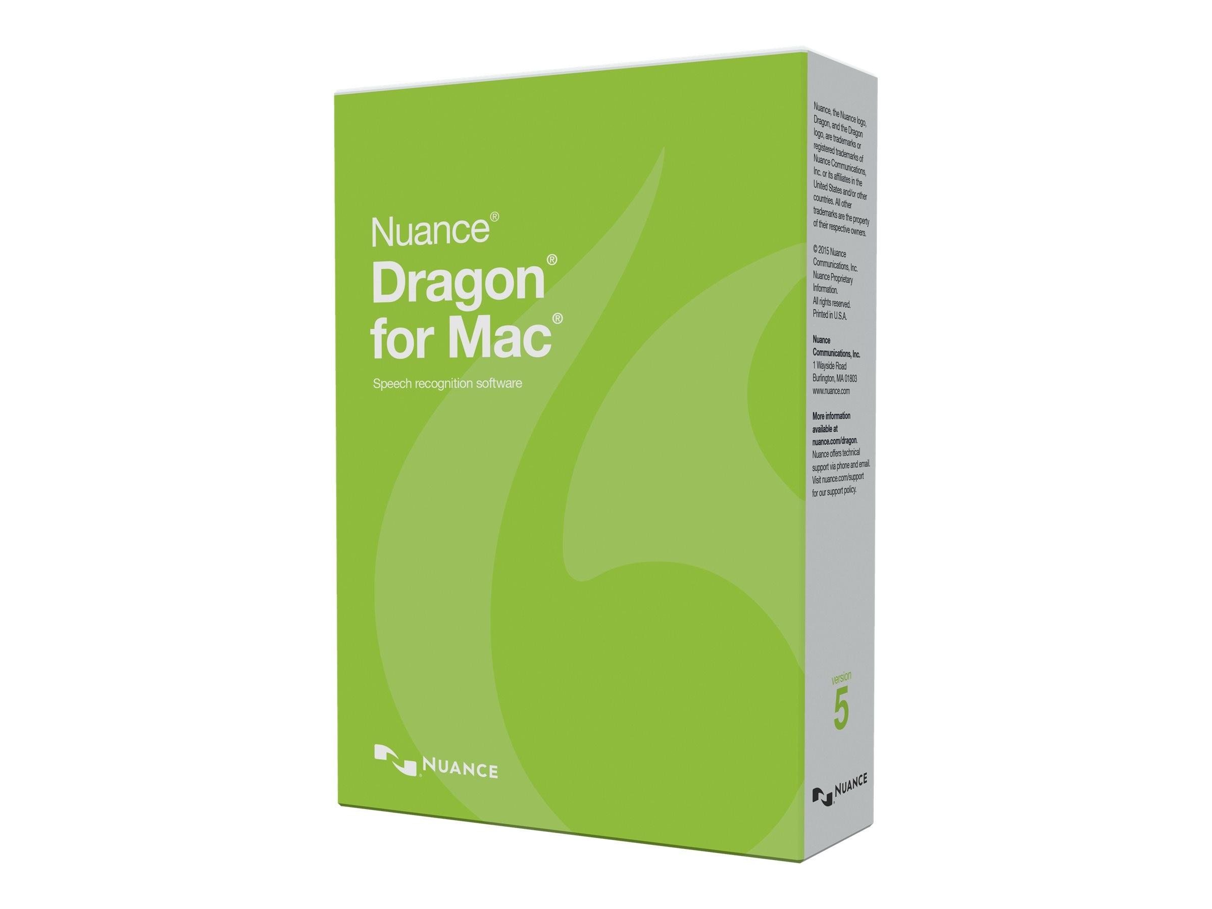 Nuance ACAD ENG DRAGON FOR MAC 5.0    DVD ONLINE VALIDATION PROGRAM, S601A-F02-5.0, 31127961, Software - Voice Recognition