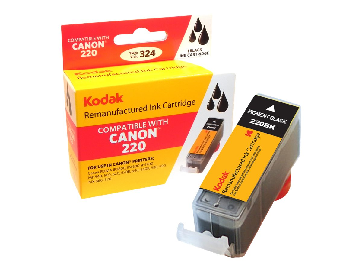 Kodak 2945B001 Black Ink Cartridge for Canon, PGI-220-KD
