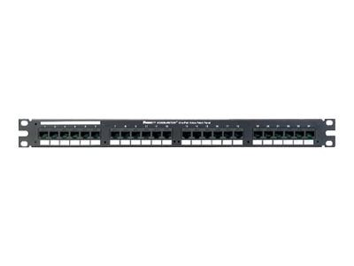 Panduit 24-Port Patch Panel, Voice, 1U, VP24382TV25Y, 12697706, Patch Panels