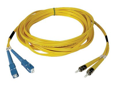 Tripp Lite SC-ST 8.3 125 Singlemode Duplex Fiber Optic Cable, Yellow, 25m, N354-25M, 30863835, Cables