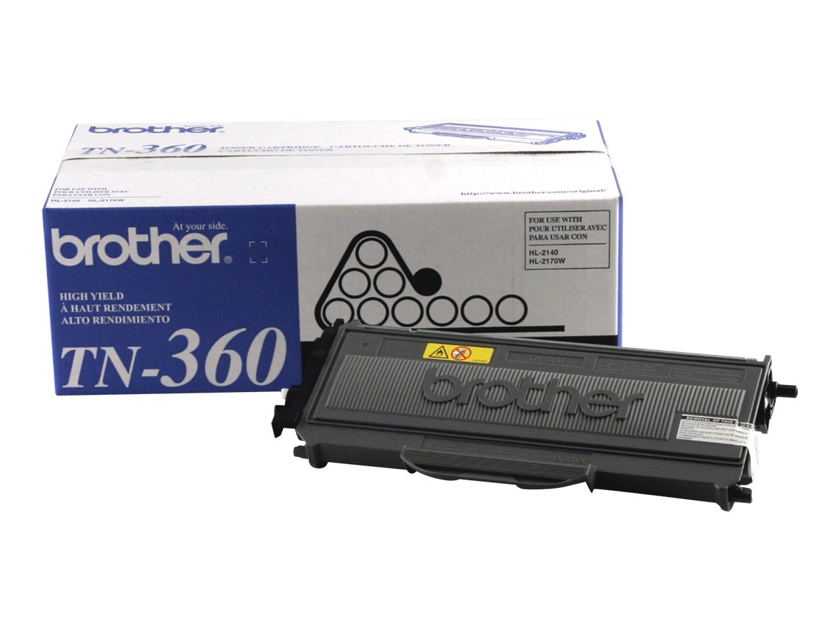 Brother Black TN360 High Yield Toner Cartridge, TN360, 8222839, Toner and Imaging Components