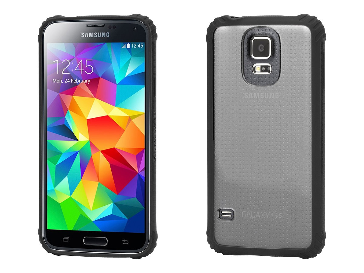 Griffin Survivor Core for Galaxy S5, Black Clear, GB39905-2, 23515710, Carrying Cases - Phones/PDAs