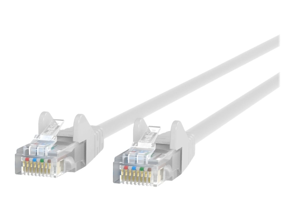 Belkin Cat6 UTP Patch Cable, White, Snagless, 3ft