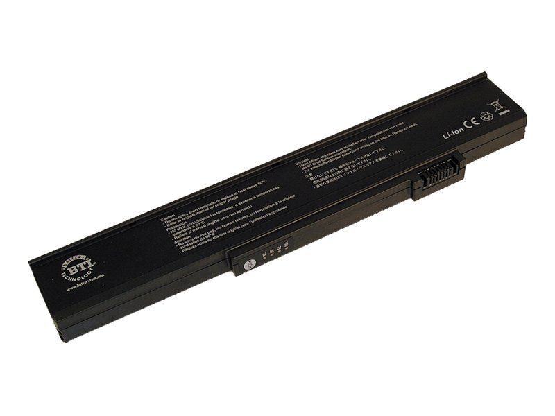 BTI Battery, for e-Machines N10 Series Li-Ion Replaces 3UR18650F-2-QC-MA1, EM-N10, 7517424, Batteries - Notebook