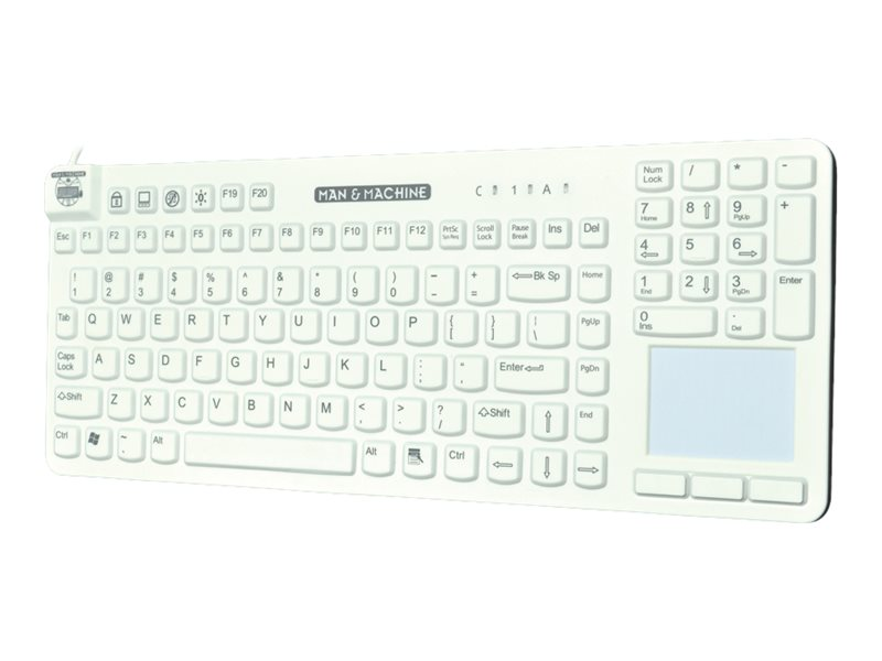 Man & Machine Reallycool Touch Keyboard, White, RCTLP/W5-LT, 27719314, Keyboards & Keypads