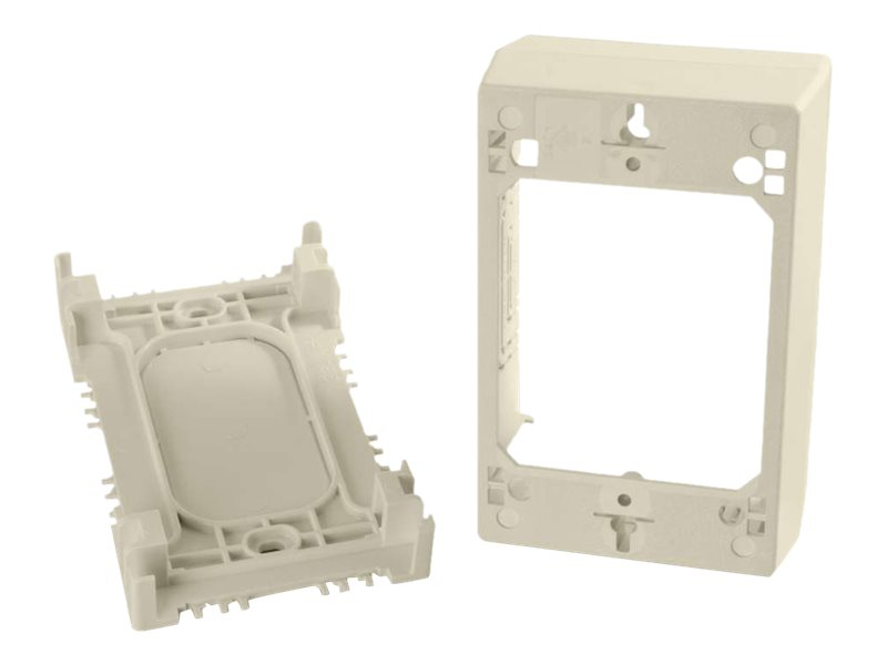 C2G Wiremold Uniduct Single Gang Deep Junction Box, Ivory (TAA Compliant)