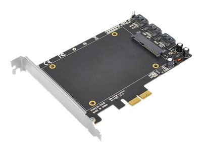 Siig PCI Express (PCIe) SATA 6Gbps Adapter with SSD Socket, SC-SA0T11-S1