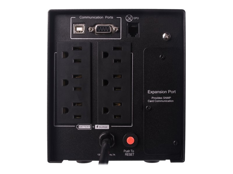 CyberPower Smart App 750VA 525W Mini-tower UPS, LCD Control Panel, Pure Sine Wave, PR750LCD