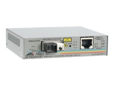 Allied Telesis 10 100TX to 100FX SC Single Mode 15KM 2-port Switch with Enhanced Messenger Link, AT-FS232/1-60, 10162003, Network Transceivers