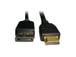 Unirise HDMI to DisplayPort M M Cable, Black, 10ft, HDMIDP-10F-MM, 17053803, Cables
