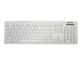 Man & Machine Lcool Value Keyboard Open Style, Washable, Lockable, White, LCOOL/W5, 19750400, Keyboards & Keypads